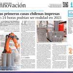 Las primeras casas chilenas impresas en 24 horas podrían ser realidad en 2023